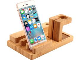 Bambus Dock til Apple Watch & Smartphone