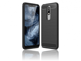 Carbon Fiber TPU Cover til Nokia 5.1 Plus