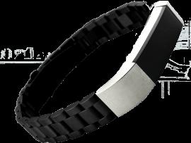 Bolzano rem til Fitbit Alta / Alta HR / Ace 1-Sort