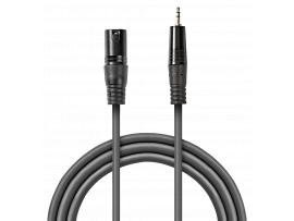 Balanceret Adapter Kabel XLR 3-Pin Hanstik - AUX 3.5mm Hanstik - 3 meter