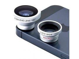 Fisheye, Macro & Vidvinkel linse til iPhone 5 & 6