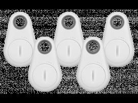 5 Stk. Hvide Bluetooth Nøglefindere
