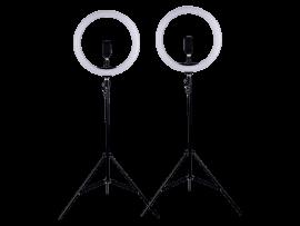 2x 30cm Ring Lys På Stativ