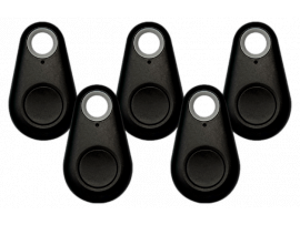 5 Stk. Sorte Bluetooth Nøglefindere