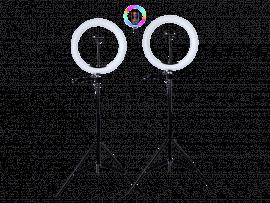 2x 33 cm RBG Selfie Ring Lys på Stativ