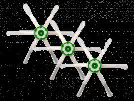 3x Hexagon Sidebørster til iRobot Roomba i7 / i7+ / E5 / E6 / E7
