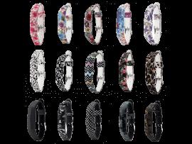 Mønstret silicone rem til Fitbit Flex 2