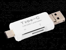 USB-C til USB Adapter m. Micro SD & SD Kort
