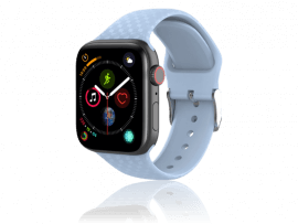 Diamond Silicone rem til Apple Watch Series 1 / 2 / 3 / 4 / 5 - 38 / 40mm
