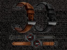 Genuine Læder rem til Garmin Fenix 3 / 3 HR / 5X / 5X Plus / 6X / 6X Pro