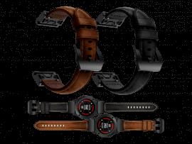 Genuine Læder rem til Garmin Fenix 5S / 5S Plus / 6S / 6S Pro