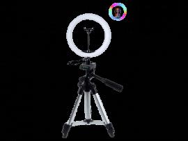 26 CM Selfie Ring Lys m. Foldbar Tripod (35 - 102cm)
