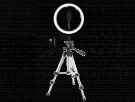 Selfie Ring Lys på stativ m. Smartphone Holder