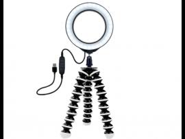Mini Selfie Ring Lys med 120 LED pærer og Gorillapod