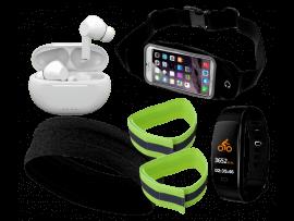 """Komplet løbepakke med aktivitetsur (4-5"""" smartphones)"""