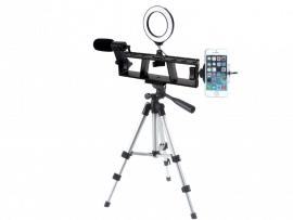 Komplet Smartphone vlogger pakke til stativ