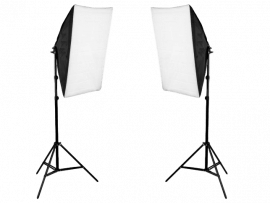 2x Softbox m/Stativer