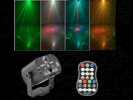 Flerfarvet Laser Diskolys