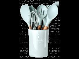 Køkkenredskabssæt m. 11 Dele inkl. Krukke