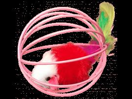 Gitterbold m. Pelsmus Ø 6,5 cm