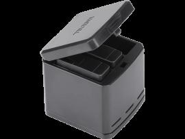 Tredobbelt batteri oplader til GoPro HERO 5 / 6 / 7 / 8
