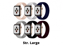 Silikone Rem til Apple Watch 4 40 mm i Solo Loop design - str. L