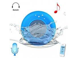 Vandtæt højtaler til badet med sugekop - Blå