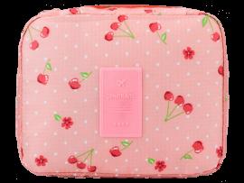 Toilettaske m. Håndtag - Pink Cherry