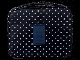 Toilettaske m. Håndtag - Blue Dots
