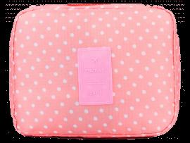 Toilettaske m. Håndtag - Pink Dots