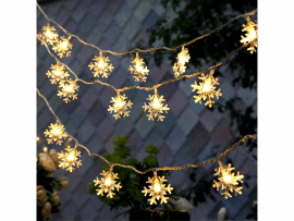 20-LED Lyskæde m. Snefnug