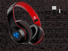 Rødt BC10 Bluetooth Gaming Headset m. LED Lys til PS5