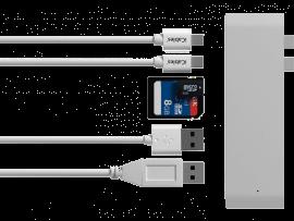 6-i-1 Multiport Adapter til MacBooks m. 2 USB-C Porte