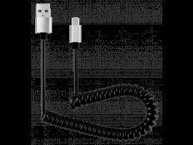 USB til USB-C Spiralkabel (30 - 90cm)
