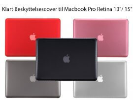 Klart Beskyttelsescover til Macbook Pro Retina 13/ 15