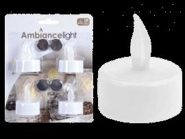 LED-fyrfadslys med flakkende lys (4 stk.)