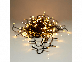 Lyskæde i Varm Hvid til fx Juletræ-180 LED