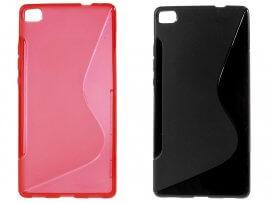 Avila cover i sort eller rødt til Huawei P8