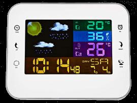 Vejrstation m. Farve Display & Vækkeur