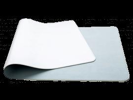 Lyseblå / Sølv Dobbeltsidet Musemåtte i Læder