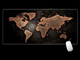 Sort Verdenskort Musemåtte