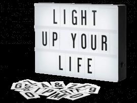 LED Lystavle med Bogstaver