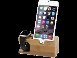 Holder i Træ til Apple Watch & iPhone / Smartphone