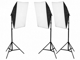 3x Softboxes m/ Stativer