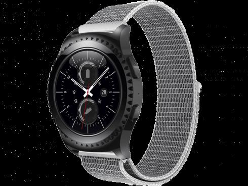 Suwon velcro rem til Samsung Galaxy Watch Active 2 40/44mm-Sølv