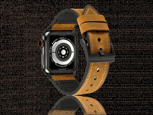 Kaumata rem i Genuine Læder til Apple Watch 1 / 2 / 3 / 4 / 5 42mm & 44mm