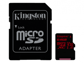 Kingston Canvas React MicroSD inkl. Adapter