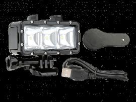 LED Lygte til GoPro - til dykning og natoptagelser