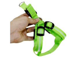 Hundesele m. LED Lys