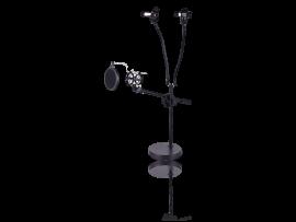 Mikrofon Holder m/ Pop Filter & Smartphone Holder